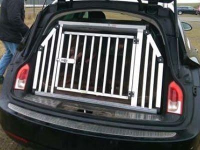 Eine maßgefertigte Hundebox.