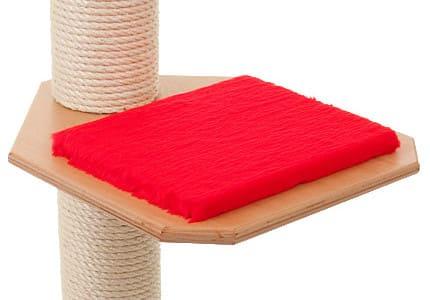 Buche-Plüsch-Rot