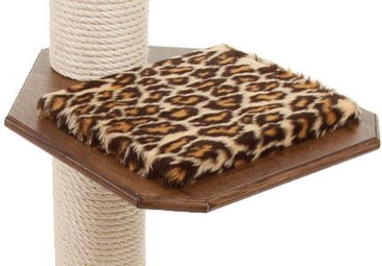 Dunkelnuss-Plüsch-Leopard