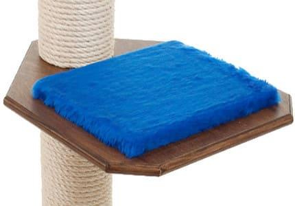 Dunkelnuss-Plüsch-Royalblau