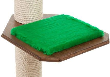 Dunkelnuss-Plüsch-Tannengrün