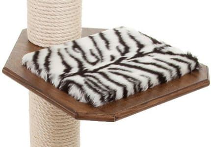 Dunkelnuss-Plüsch-Tiger-Weiß