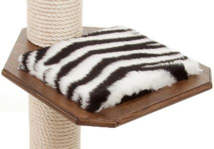 Dunkelnuss-Plüsch-Zebra