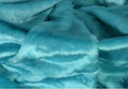 Plüsch-Aquablau