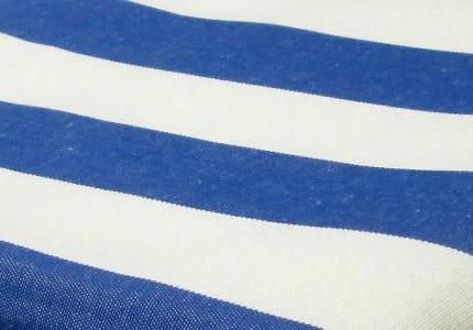 Stoff-Blau-Weiß